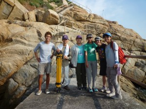 Our survey team in Fan Lau!