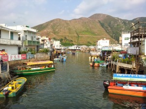 Tai O village and wala wala boats